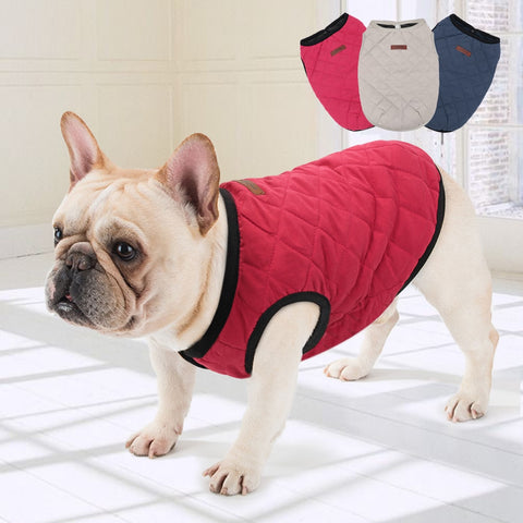 French Bulldog Clothes Warm Pet Jacket Winter Dog Pet Clothes Dog Coat Puppy Cothes for Small Dogs Chihuahua Yorkshire Pug