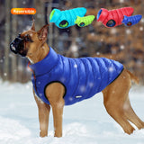 Warm Winter Dog Clothes Vest Reversible Dogs Jacket Coat 3 Layer Thick Pet Clothing Waterproof Outfit for Small Large Dogs