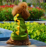 Adorable Red or Green Dinosaur Dog Costume