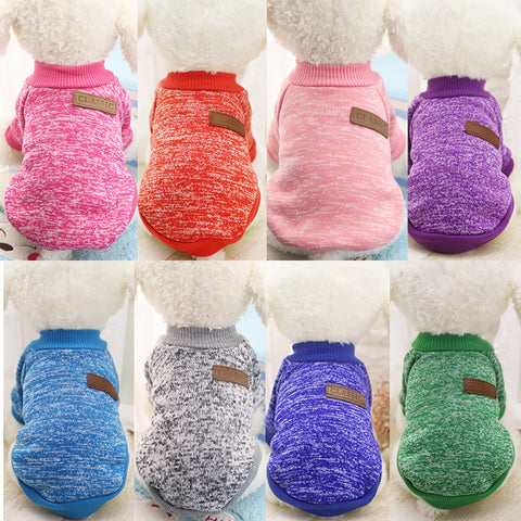 Soft Dog Sweater in a Variety of Colors