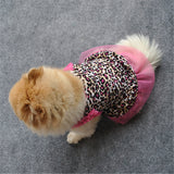 Pink Leopard Print Dog Dress