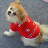 """Merry Chistmas"" Red Fleece Dog Sweater"