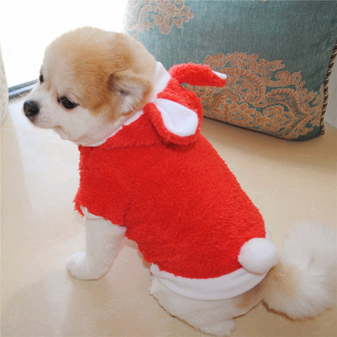 Adorable Red or Pink Fleece Bunny Costume