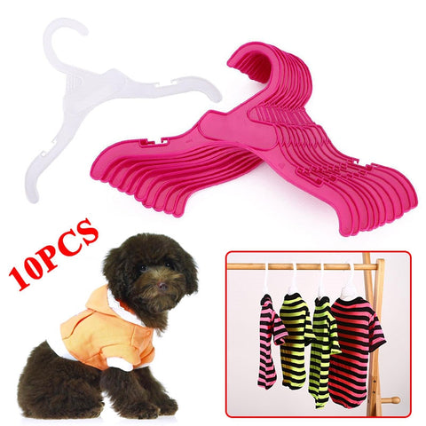 10PCS/Set Plastic Tough Pet Dog Puppy Cat Clothes Clothing Rack Hanger 18cm/25cm White&Red Length Dog Product Accessories
