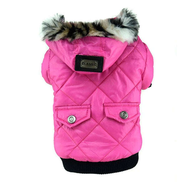 Doggy Warm Coat Pet Faux Pockets Cat Dog Puppy Hoodie Jacket Costume Clothes