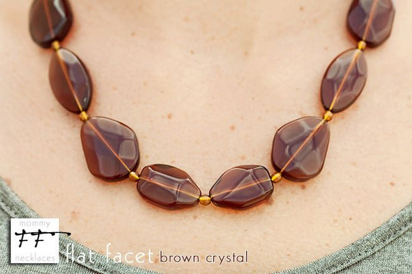 Flat Facet Strand - Brown Crystal