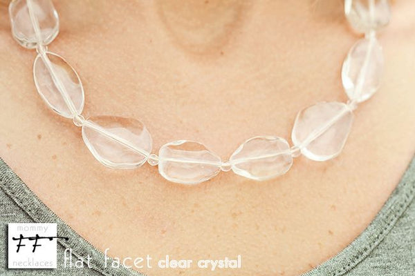 Flat Facet Strand - Clear Crystal