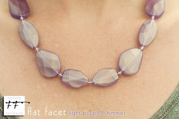 Flat Facet Strand - Light Purple Shimmer