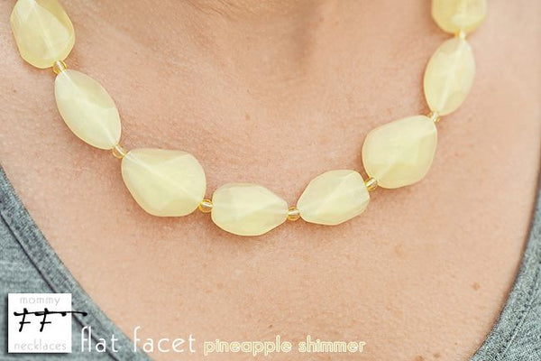 Flat Facet Strand - Pineapple Shimmer