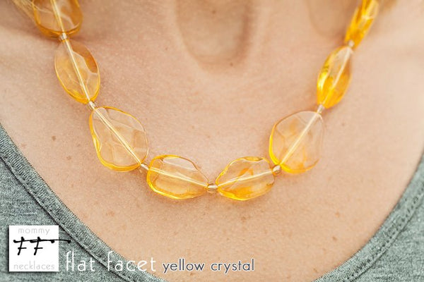 Flat Facet Strand - Yellow Crystal