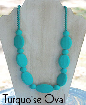 Teether Strand - Turquoise Oval