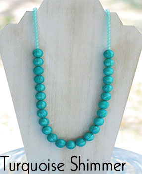 Teether Strand - Turquoise Shimmer