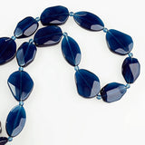 Flat Facet Strand - Dark Blue Crystal