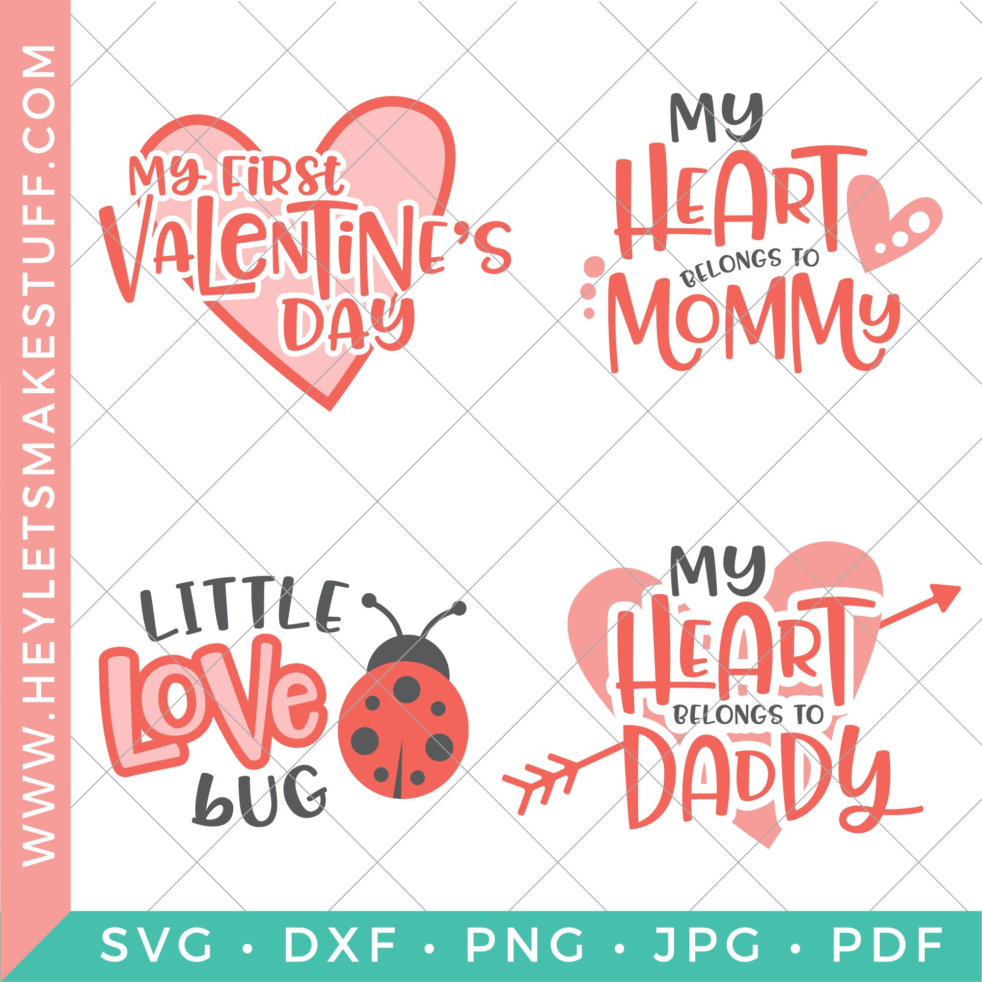 Adorable Baby Valentine S Day Svg Bundle Hey Let S Make Stuff