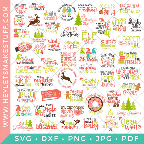 BIG Christmas Bundle - 54 SVG Files!