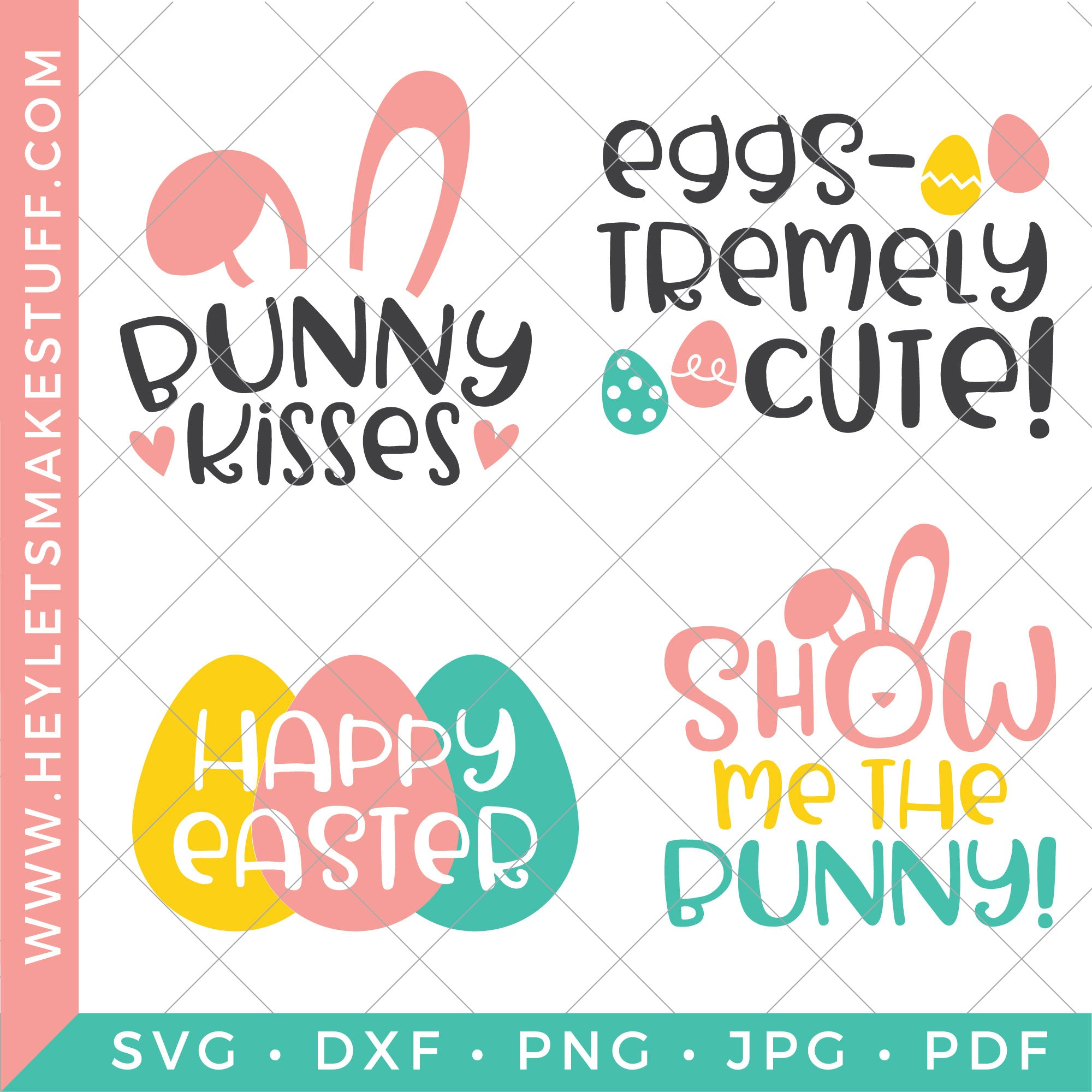 Four Eggs Tra Cute Easter Svg Files Hey Let S Make Stuff