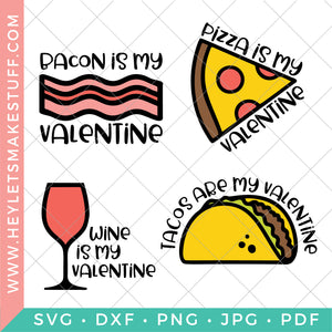Funny Food Valentines Bundle