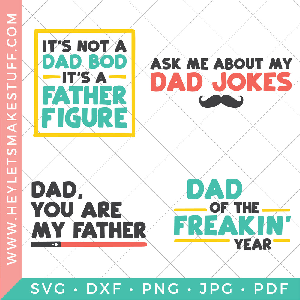 Free What is the perfect father's day gift for the dad or pap who has everything? Funny Father S Day Svg Bundle Hey Let S Make Stuff SVG, PNG, EPS, DXF File