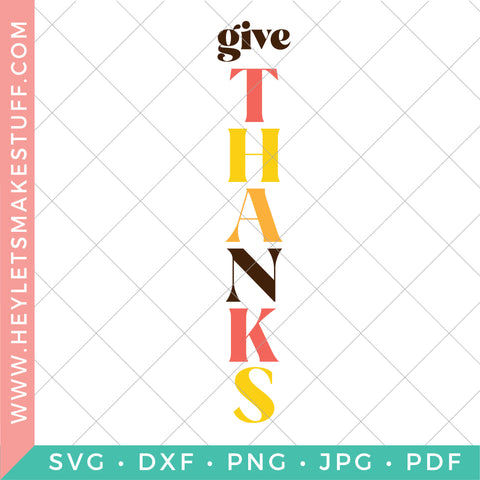 Give Thanks Fall Porch SVG