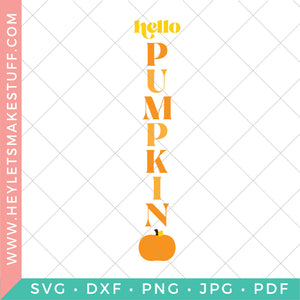 Hello Pumpkin Fall Porch SVG