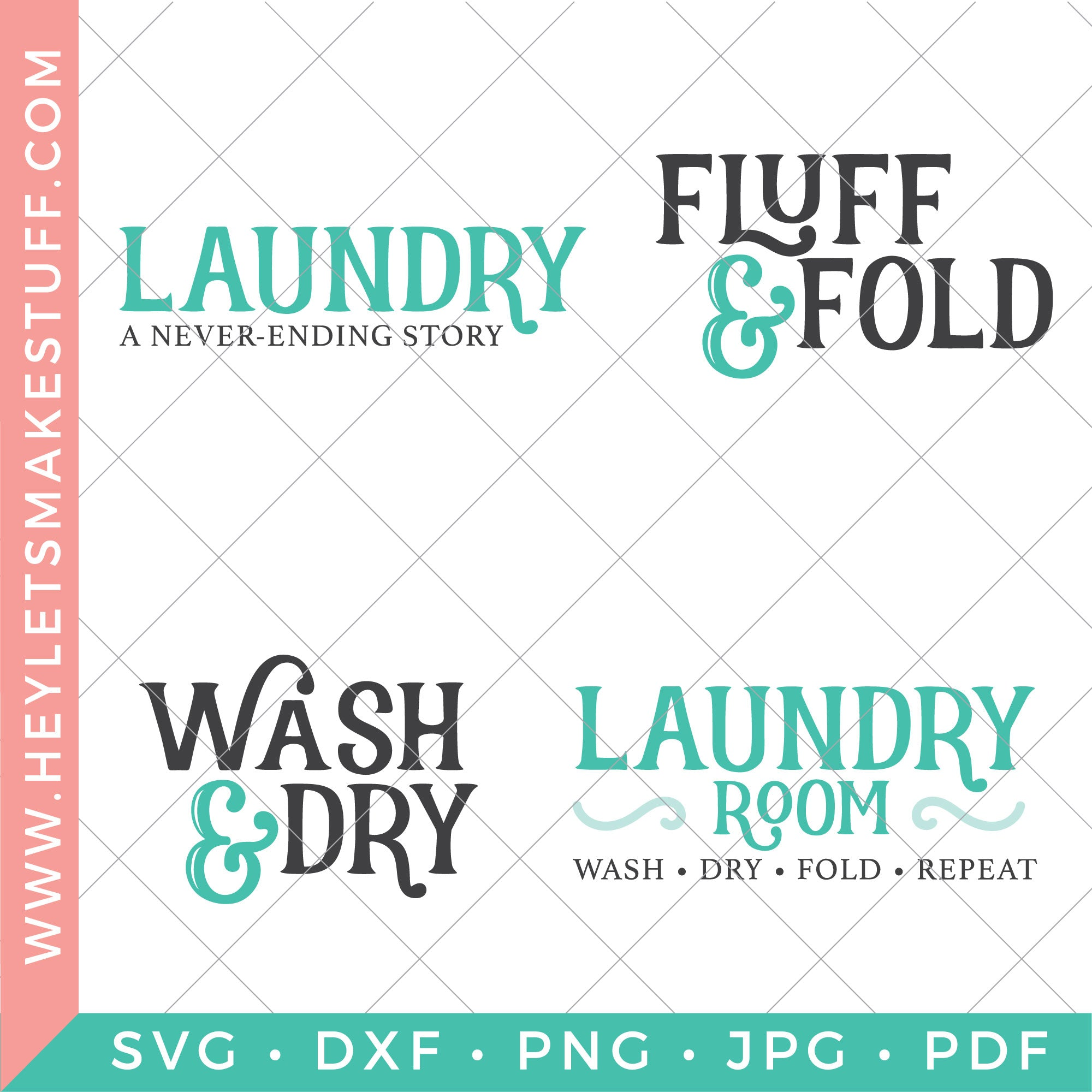 Four Pretty Laundry Room Svg Files Hey Let S Make Stuff
