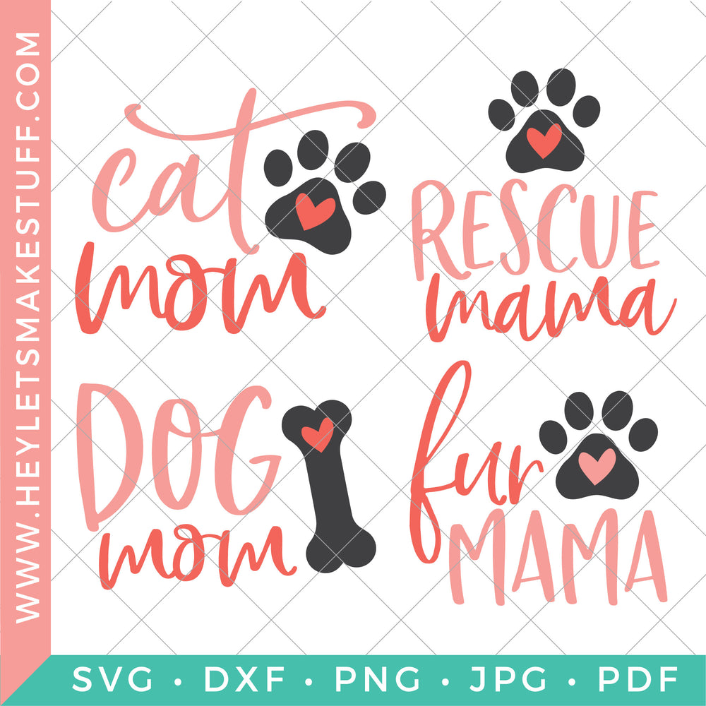 Cat And Dog Mom Cut Files Clip Art Hey Let S Make Stuff