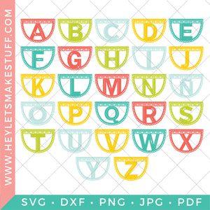 Papel Picado Letter Banner