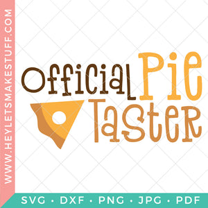 Official Pie Taster
