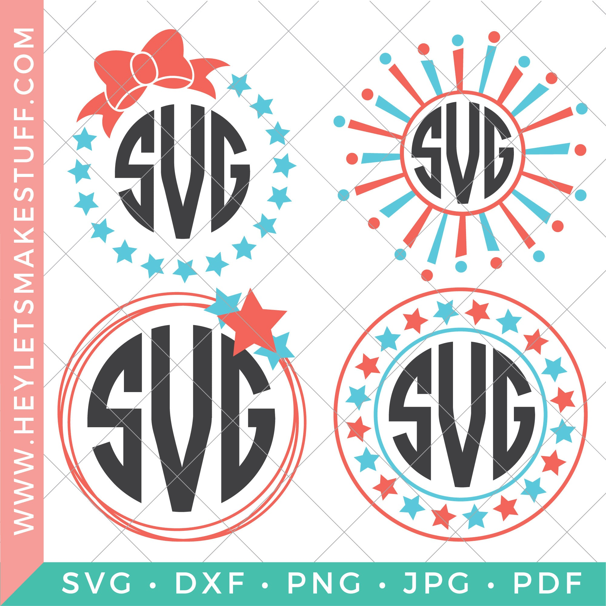 4th of July Monogram Bundle