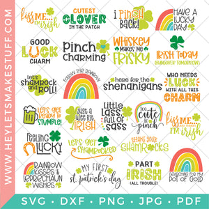 BIG St. Patrick's Day Bundle - 24 SVG Files!