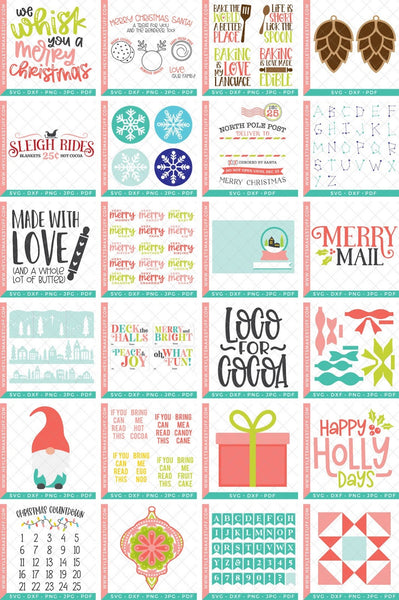 25 Days of Cricut Christmas eBook + SVG File Bundle!