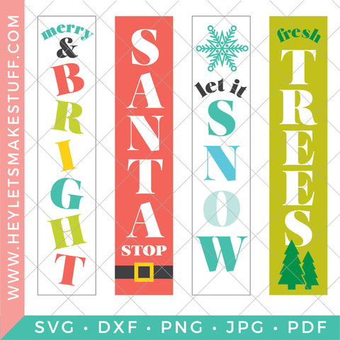 Vertical Christmas Sign Bundle