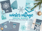 Winter Village Digital File Bundle