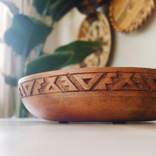 Rangoli Low Wood Bowl
