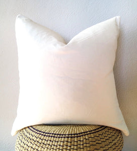 White Mud Cloth Pillow No.1