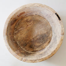 Found Etched Wood Bowl No.3