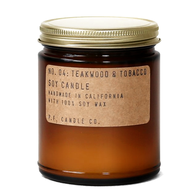 Teakwood + Tobacco No. 04 : P.F. Candle Co.