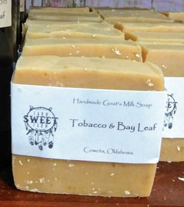 Goat Milk Soap Tobacco and Bay Leaf