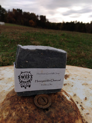 Honeysuckle Charcoal Goat Milk Soap