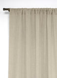 Essence Rod Pocket Linen Curtain Panels (Sold in Pairs)