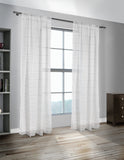 Horizon Linen Stripe Sheer Panels (Sold in Pairs)