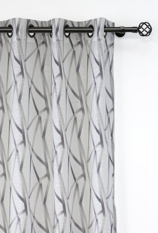 Intersection Printed Sheer Curtain Panels - (Sold in Pairs)