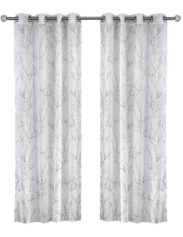 Unique Simon Branch Printed Sheer Panels (Sold in Pairs) – Liteout Style IU89