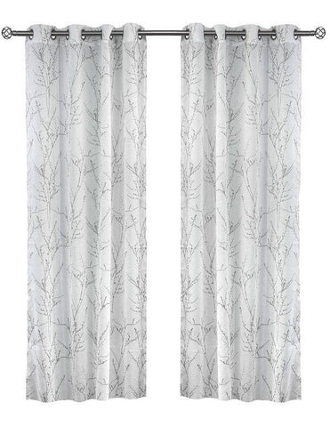 Simon Branch Printed Sheer Panels (Sold in Pairs)
