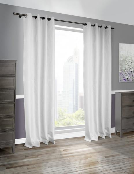 Cabo Linen Look Blackout Curtains (Sold In Pairs)