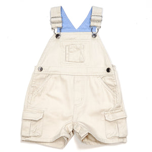 Arizona Boys Cream Denim Shortalls 3M Used View 1