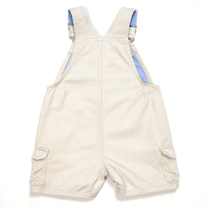 Arizona Boys Cream Denim Shortalls 3M Used View 2