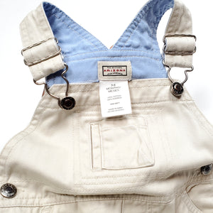 Arizona Boys Cream Denim Shortalls 3M Used View 3