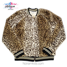 Load image into Gallery viewer, Art Class Leopard Faux Fur Girls Jacket Used View 1