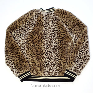 Art Class Leopard Faux Fur Girls Jacket Used View 3
